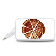 Food Fast Pizza Fast Food Portable Speaker (White)