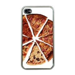 Food Fast Pizza Fast Food Apple iPhone 4 Case (Clear)