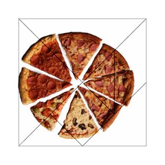 Food Fast Pizza Fast Food Acrylic Tangram Puzzle (6  X 6 )