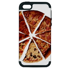Food Fast Pizza Fast Food Apple Iphone 5 Hardshell Case (pc+silicone)
