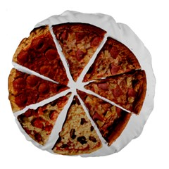Food Fast Pizza Fast Food Large 18  Premium Round Cushions