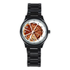 Food Fast Pizza Fast Food Stainless Steel Round Watch