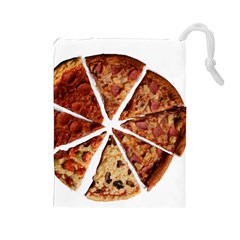 Food Fast Pizza Fast Food Drawstring Pouches (large)