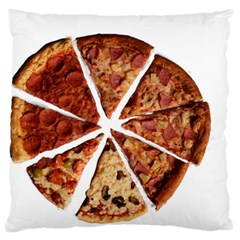 Food Fast Pizza Fast Food Large Flano Cushion Case (one Side)