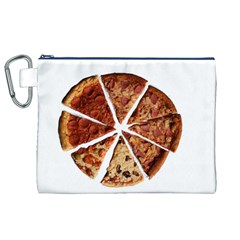 Food Fast Pizza Fast Food Canvas Cosmetic Bag (xl)