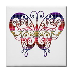 Butterfly Nature Abstract Beautiful Tile Coasters