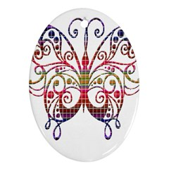 Butterfly Nature Abstract Beautiful Ornament (Oval)