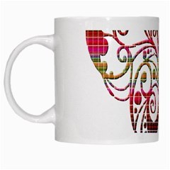 Butterfly Nature Abstract Beautiful White Mugs