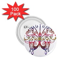 Butterfly Nature Abstract Beautiful 1 75  Buttons (100 Pack)