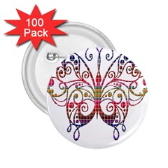 Butterfly Nature Abstract Beautiful 2 25  Buttons (100 Pack)