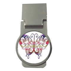 Butterfly Nature Abstract Beautiful Money Clips (round)