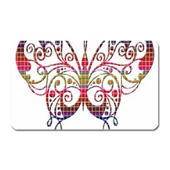 Butterfly Nature Abstract Beautiful Magnet (rectangular)