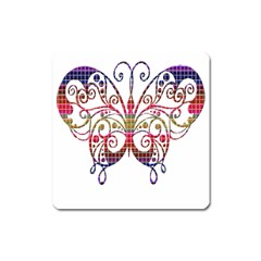 Butterfly Nature Abstract Beautiful Square Magnet