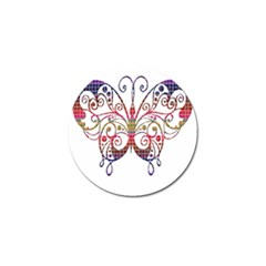 Butterfly Nature Abstract Beautiful Golf Ball Marker (4 Pack)