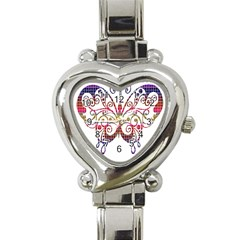 Butterfly Nature Abstract Beautiful Heart Italian Charm Watch