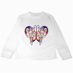 Butterfly Nature Abstract Beautiful Kids Long Sleeve T Shirts