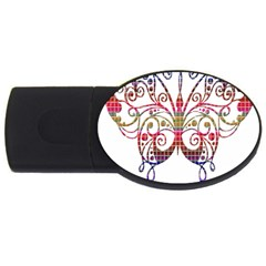 Butterfly Nature Abstract Beautiful USB Flash Drive Oval (4 GB)