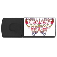 Butterfly Nature Abstract Beautiful Usb Flash Drive Rectangular (4 Gb)