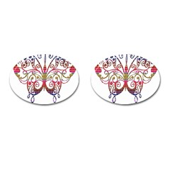 Butterfly Nature Abstract Beautiful Cufflinks (oval)