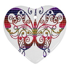 Butterfly Nature Abstract Beautiful Heart Ornament (two Sides)