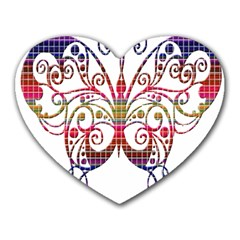 Butterfly Nature Abstract Beautiful Heart Mousepads
