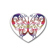 Butterfly Nature Abstract Beautiful Heart Coaster (4 pack)