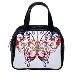 Butterfly Nature Abstract Beautiful Classic Handbags (one Side)