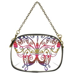 Butterfly Nature Abstract Beautiful Chain Purses (One Side)