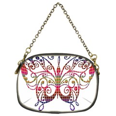 Butterfly Nature Abstract Beautiful Chain Purses (two Sides)