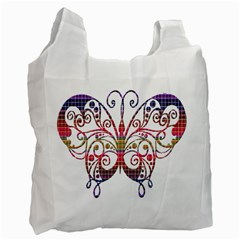 Butterfly Nature Abstract Beautiful Recycle Bag (two Side)