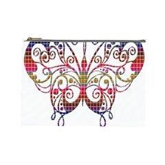 Butterfly Nature Abstract Beautiful Cosmetic Bag (large)