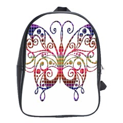 Butterfly Nature Abstract Beautiful School Bags(Large)