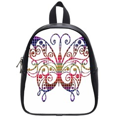 Butterfly Nature Abstract Beautiful School Bags (small)