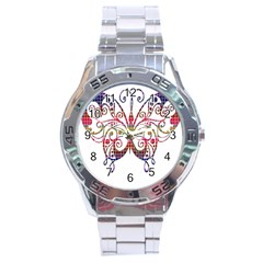 Butterfly Nature Abstract Beautiful Stainless Steel Analogue Watch