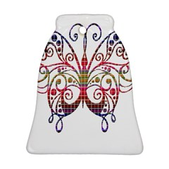 Butterfly Nature Abstract Beautiful Bell Ornament (Two Sides)