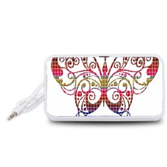 Butterfly Nature Abstract Beautiful Portable Speaker (White)