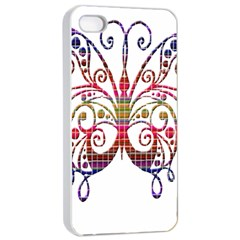 Butterfly Nature Abstract Beautiful Apple iPhone 4/4s Seamless Case (White)