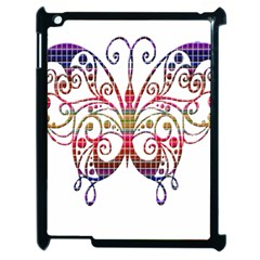 Butterfly Nature Abstract Beautiful Apple Ipad 2 Case (black)