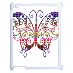 Butterfly Nature Abstract Beautiful Apple iPad 2 Case (White)