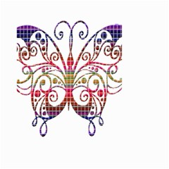 Butterfly Nature Abstract Beautiful Small Garden Flag (two Sides)