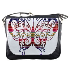 Butterfly Nature Abstract Beautiful Messenger Bags
