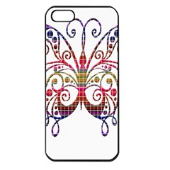 Butterfly Nature Abstract Beautiful Apple Iphone 5 Seamless Case (black)