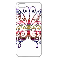 Butterfly Nature Abstract Beautiful Apple Seamless iPhone 5 Case (Clear)