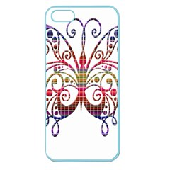 Butterfly Nature Abstract Beautiful Apple Seamless Iphone 5 Case (color)