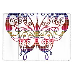 Butterfly Nature Abstract Beautiful Samsung Galaxy Tab 10 1  P7500 Flip Case