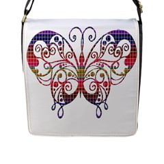 Butterfly Nature Abstract Beautiful Flap Messenger Bag (L)