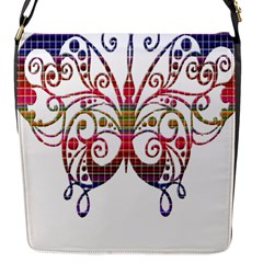 Butterfly Nature Abstract Beautiful Flap Messenger Bag (s)