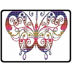 Butterfly Nature Abstract Beautiful Double Sided Fleece Blanket (large)