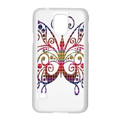 Butterfly Nature Abstract Beautiful Samsung Galaxy S5 Case (white)