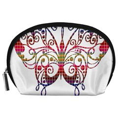 Butterfly Nature Abstract Beautiful Accessory Pouches (large)